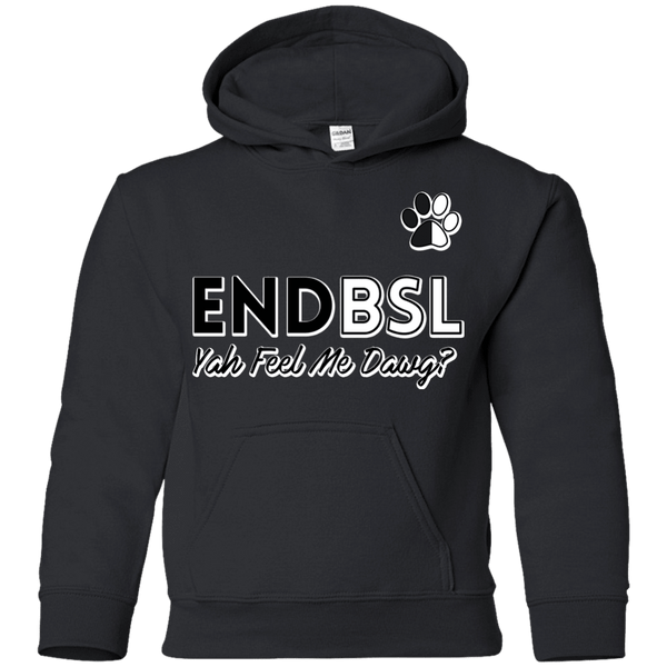 End BSL - G185B Gildan Youth Pullover Hoodie Black YS - Little Pit Shop