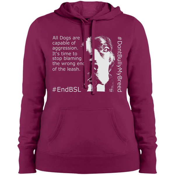 #EndBSL - LST254 Sport-Tek Ladies' Pullover Hooded Sweatshirt Pink Rush X-Small - Little Pit Shop