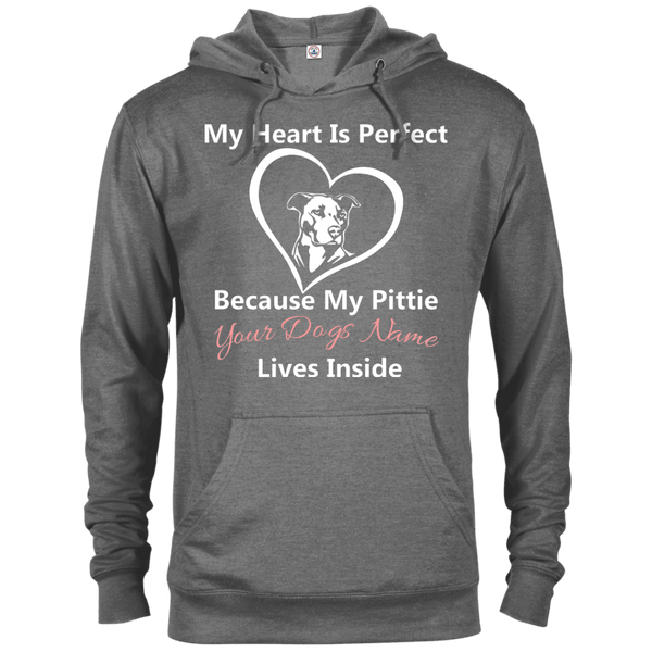 My Heart Personalized - 97200 Delta French Terry Hoodie Dark Graphite Heather X-Small - Little Pit Shop