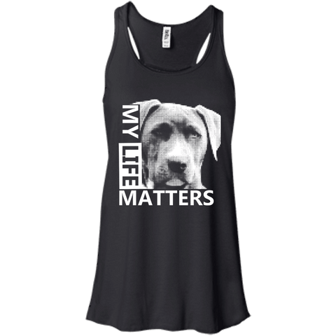 My LIfe Matters - B8800 Bella + Canvas Flowy Racerback Tank Black X-Small - Little Pit Shop