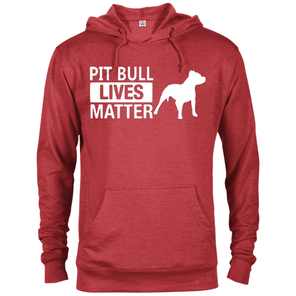 Pit Bull Lives Matter - 97200 Delta French Terry Hoodie Dark Red Heather X-Small - Little Pit Shop