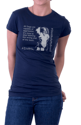 #EndBSL - G200L Gildan Ladies' 100% Cotton T-Shirt, T-Shirts | Pit Bull T Shirts, Hoodies and more | Little Pit Shop