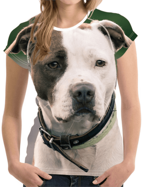 3D Dog Tees American Pit Bull w3262 S - Little Pit Shop