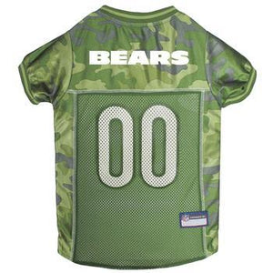 Chicago Bears Camo Dog Jersey   - Little Pit Shop