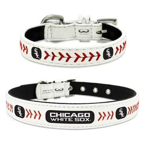 Chicago White Sox Leather Dog Collar,  | Pit Bull T Shirts, Hoodies and more | Little Pit Shop