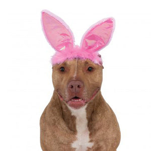 Easter Bunny Ears Dog Costume Headpiece - Pink   - Little Pit Shop