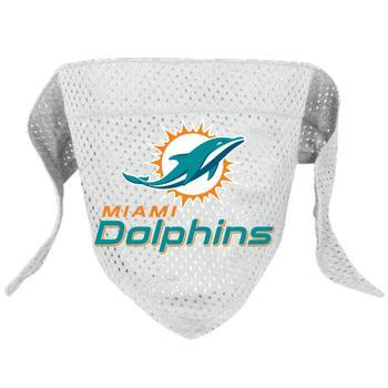 Official Licensed NFL Mesh Dog Bandanas 14 Teams to choose from Miami Dolphins  - Little Pit Shop