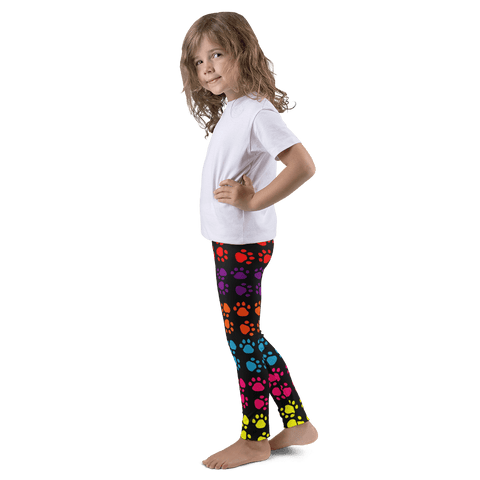 Rainbow Paw Print Kid's Leggings By Little Pit Shop,  | Pit Bull T Shirts, Hoodies and more | Little Pit Shop