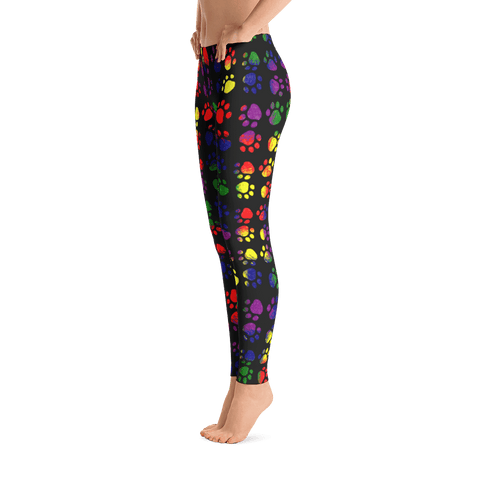 Colorsplash Paw Print Leggings By Little Pit Shop XS  - Little Pit Shop
