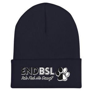 End BSL - Cuffed Beanie by Little Pit Shop Navy  - Little Pit Shop