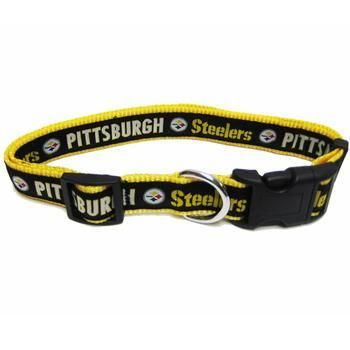 Pittsburgh Steelers Officially Licensed Dog Collar,  | Pit Bull T Shirts, Hoodies and more | Little Pit Shop