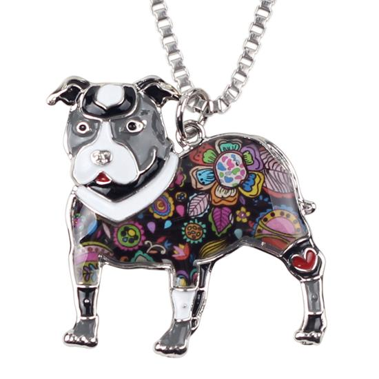 Pit Bull Pendant And Chain Grey  - Little Pit Shop