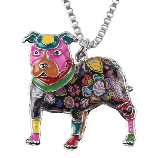 Pit Bull Pendant And Chain Multicolor  - Little Pit Shop