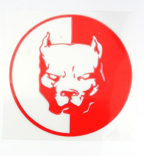 Pit Bull Decal Red  - Little Pit Shop