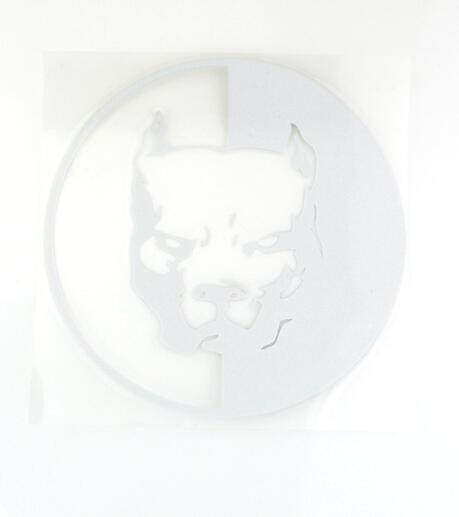 Pit Bull Decal White  - Little Pit Shop