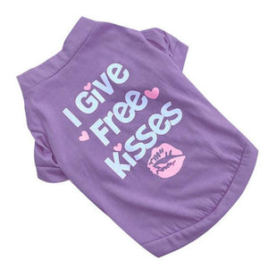 Free Kisses Doggie T-Shirt as shown L - Little Pit Shop