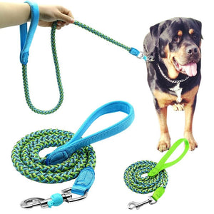 Reflective Nylon Braided Rope Leash   - Little Pit Shop
