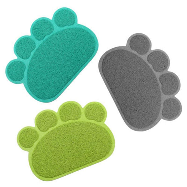 PVC Paw Shaped Feeding Bowl Mat   - Little Pit Shop