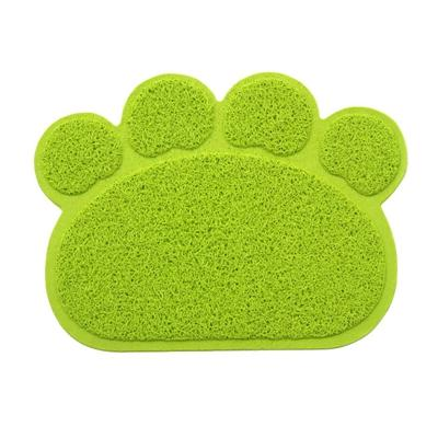PVC Paw Shaped Feeding Bowl Mat 2 green paw 30x40cm - Little Pit Shop