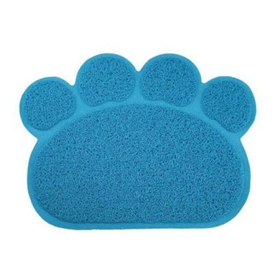 PVC Paw Shaped Feeding Bowl Mat 5 sky blue paw 30x40cm - Little Pit Shop