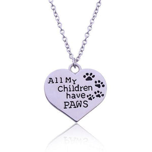 All My Children Have Paws Pendant Default Title  - Little Pit Shop