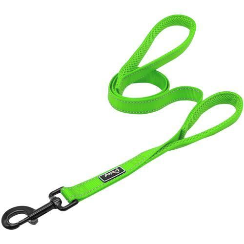 Reflective Dog Harness + Leash Green Leash XS - Little Pit Shop