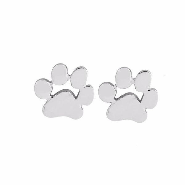 Cute Paw Print Earrings Silver Plated  - Little Pit Shop