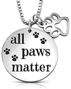 All Paws Matter Charm Necklace, Jewelry | Pit Bull T Shirts, Hoodies and more | Little Pit Shop