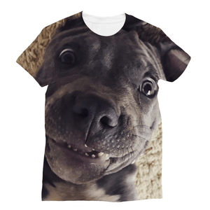 Lil D Crazy Eye - Sublimation T-Shirt, Apparel | Pit Bull T Shirts, Hoodies and more | Little Pit Shop