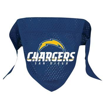 Official Licensed NFL Mesh Dog Bandanas 14 Teams to choose from Los Angeles Chargers  - Little Pit Shop