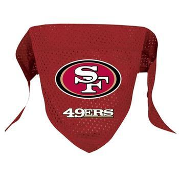 Official Licensed NFL Mesh Dog Bandanas 14 Teams to choose from San Francisco 49ers  - Little Pit Shop
