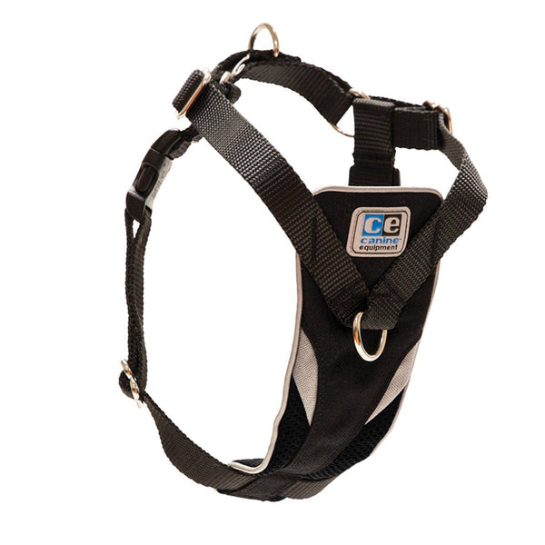 Ultimate Control Dog Harness by Canine Equipment - Black   - Little Pit Shop