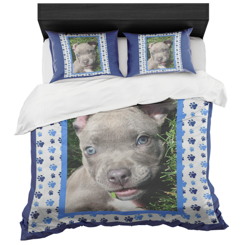 Pit Bull Puppy Bedroom Set - Blue, Bedroom Set | Pit Bull T Shirts, Hoodies and more | Little Pit Shop