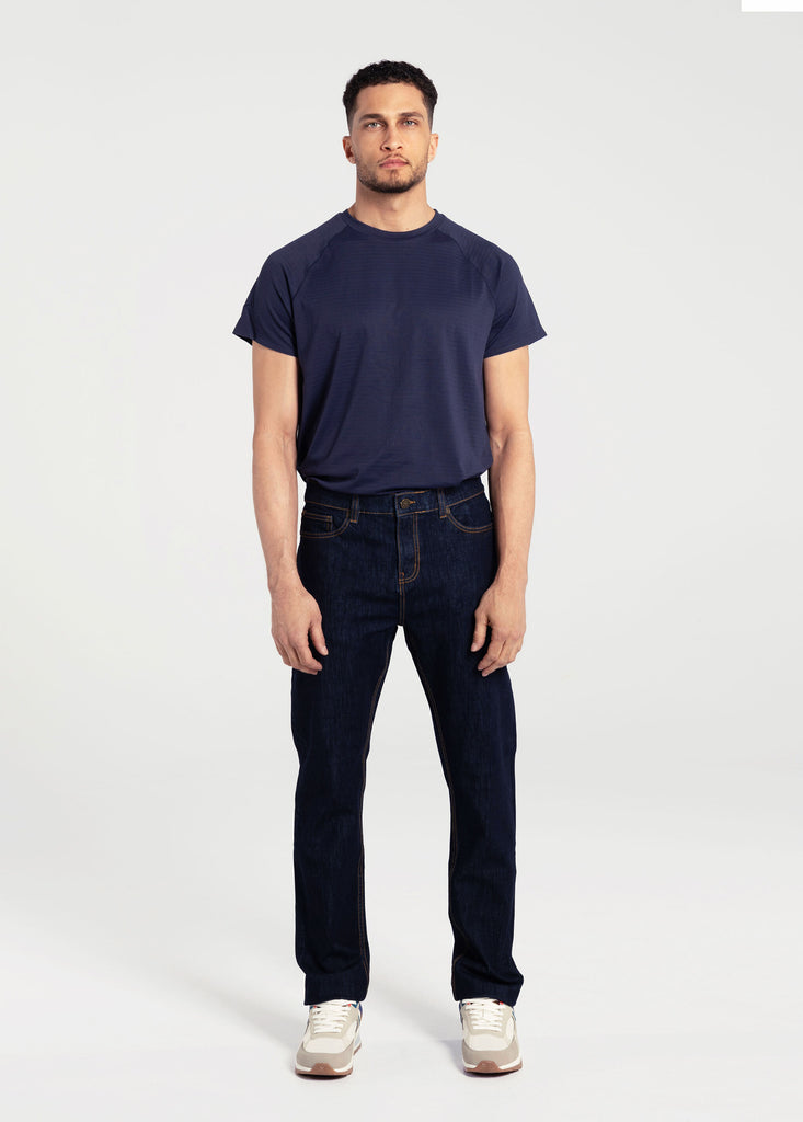 RALEIGH SLIM STRAIGHT DENIM PANT STRETCH DENIM