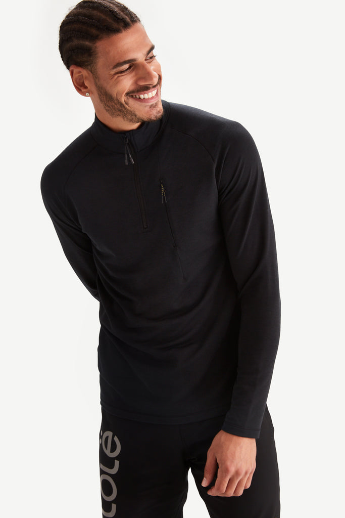 CARTER ZIP NECK LONG SLEEVE TOP