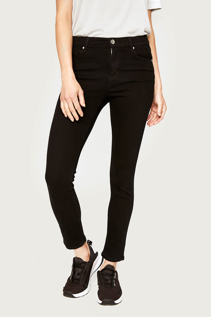 SKINNY ANKLE JEANS HIGH WAIST