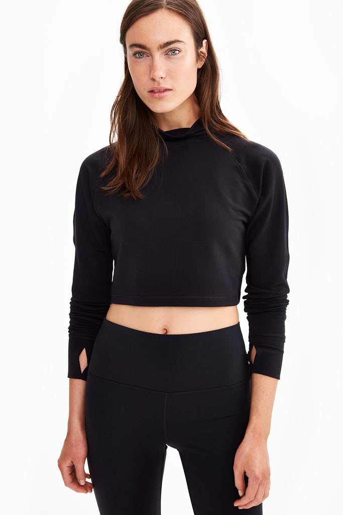 CRESCENT CROP LONG SLEEVE TOP
