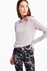 CRESCENT SNOOD LONG SLEEVE TOP
