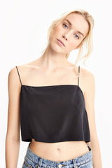 JEANNE WASHABLE SILK BANDEAU TOP
