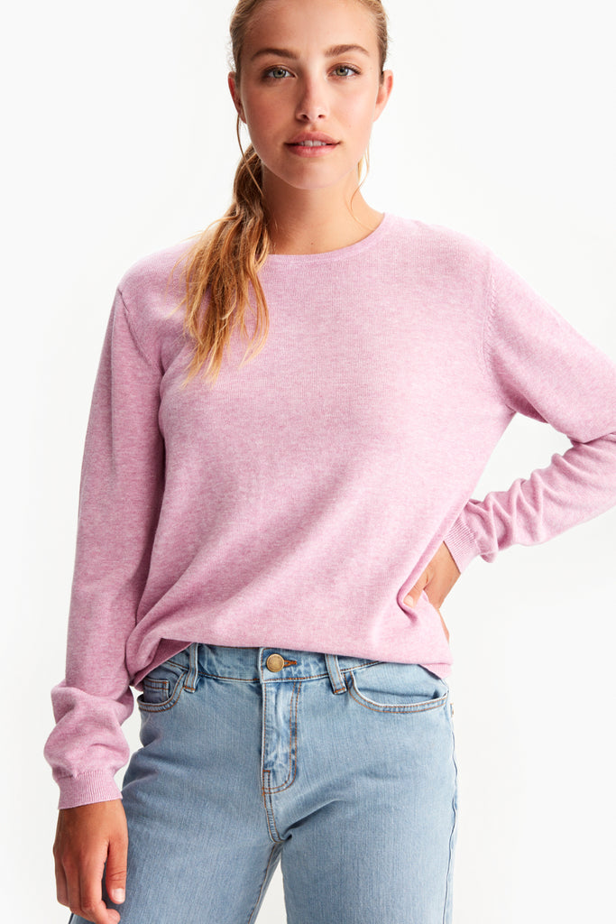 COZY CREW NECK TOP