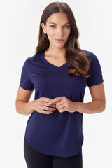 FANCY V-NECK SHORT SLEEVE