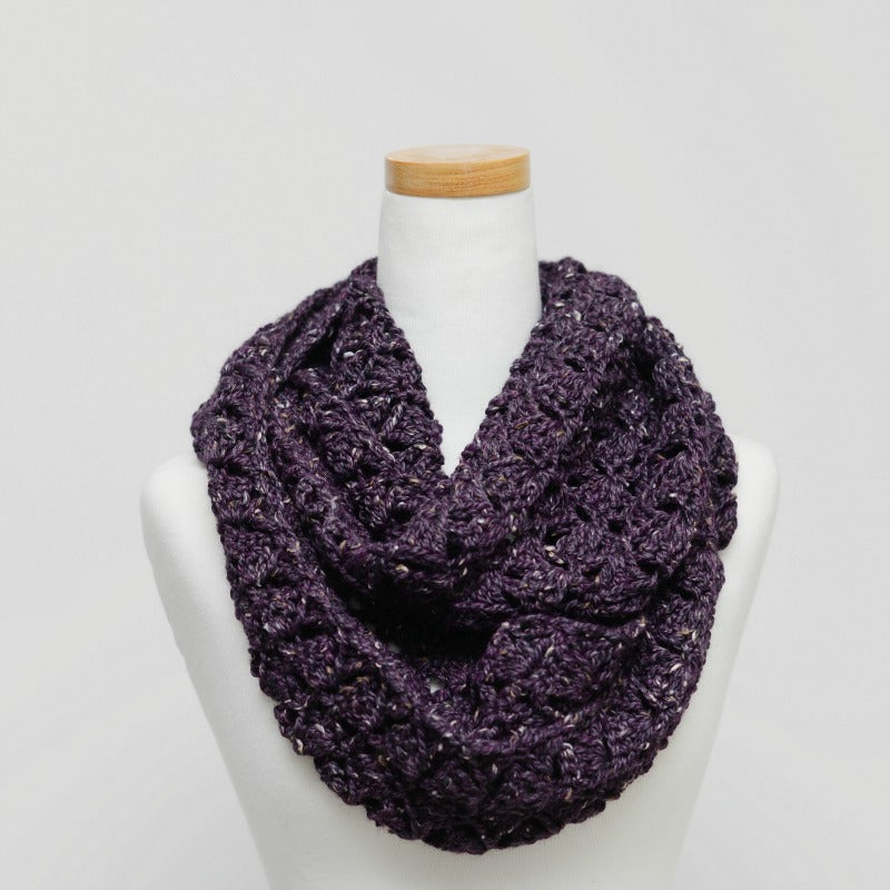 LUXE Fan Infinity Scarf - Merino + Alpaca Blend - The Makers