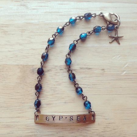 """GYPSEA"" Hand Stamped Bracelet - ShopTheMakers.com"