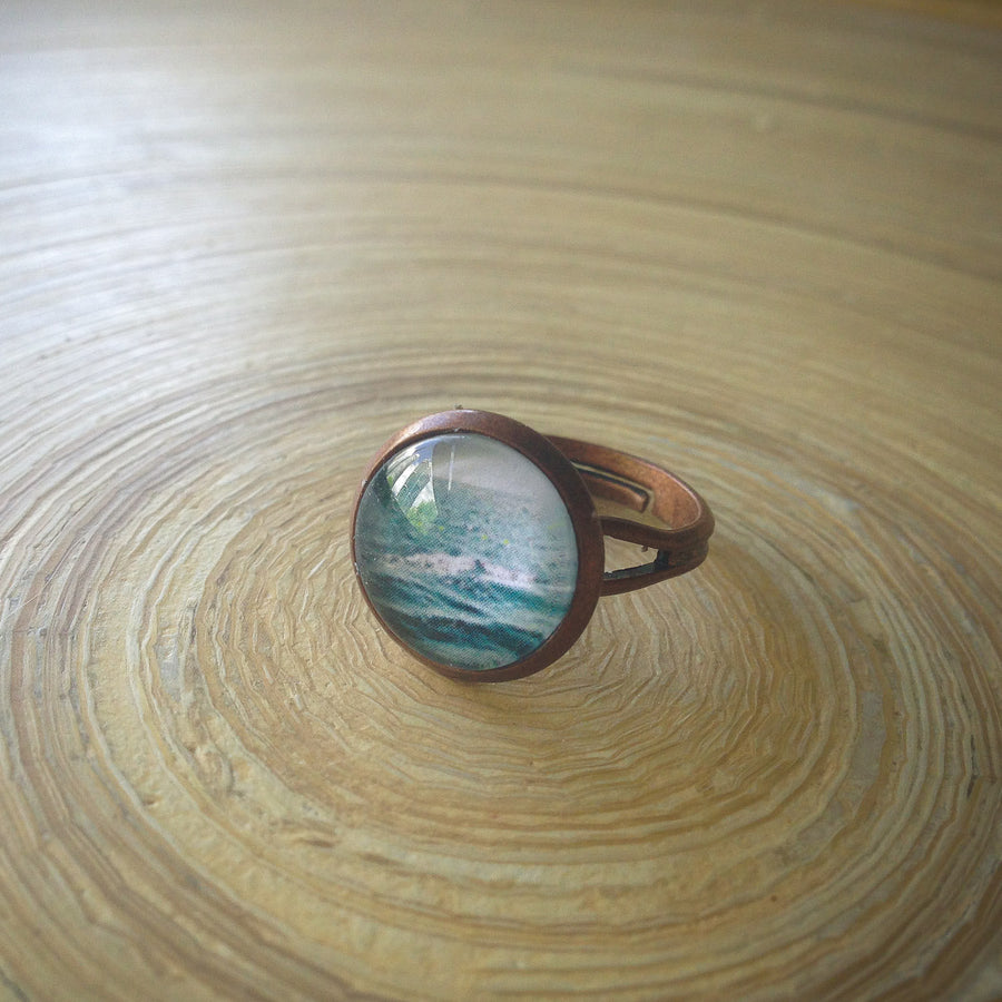 Indian Ocean, Lesser Sunda Islands, Indonesia - Adjustable Photo Ring - ShopTheMakers.com