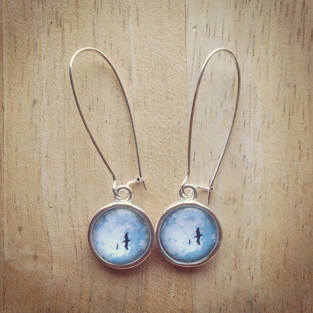 Birds, Isla Mujeres, Mexico - Earrings Photo Jewelry - ShopTheMakers.com