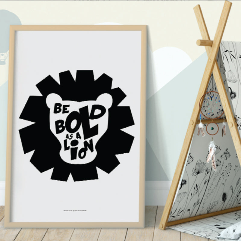 BOLD AS LION Wall Decor. Printed with high-quality wide format printer on superb quality stock - ShopTheMakers.com