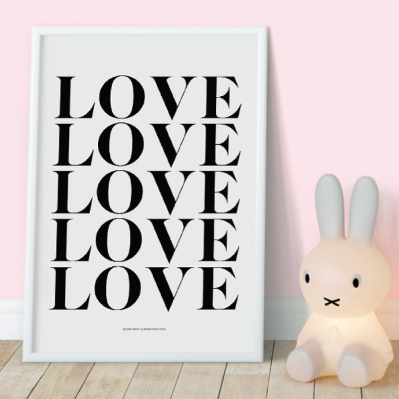 LOVEEE Wall Art & Wall Decor. Printed with high-quality wide format printer on superb quality stock - ShopTheMakers.com