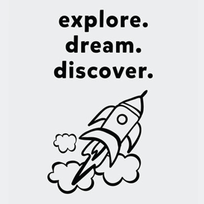 EXPLORE DREAM DISCOVER Wall Art & Decor. Printed with high-quality wide format printer on superb quality stock - ShopTheMakers.com