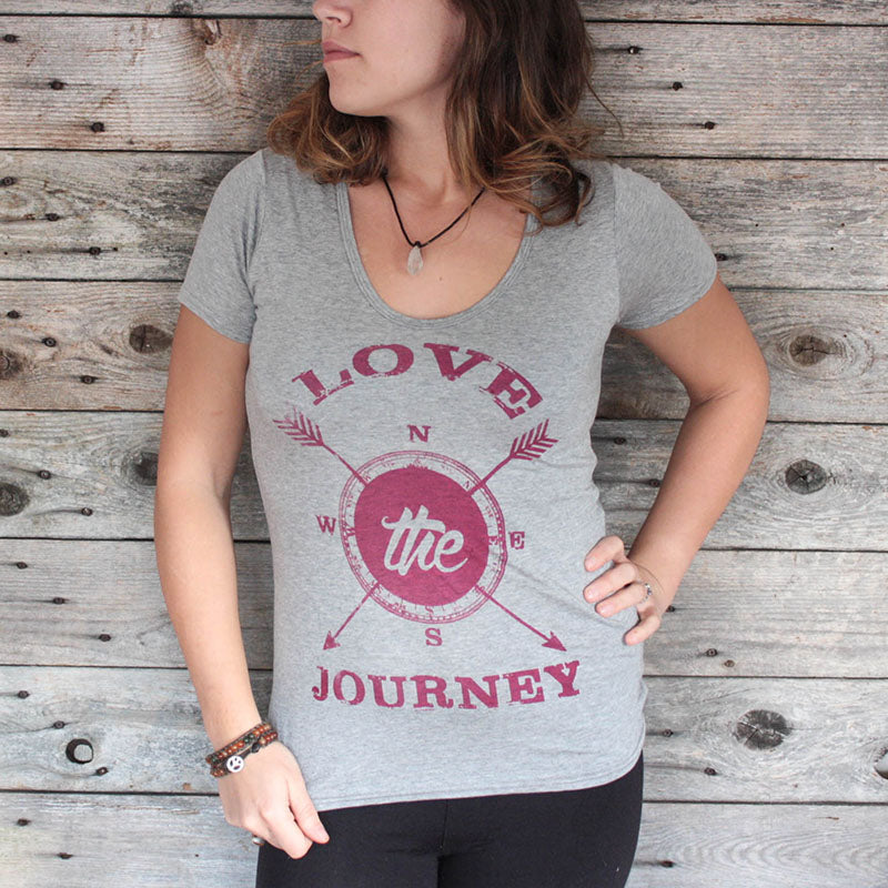 Love the journey bamboo women's tee - ShopTheMakers.com