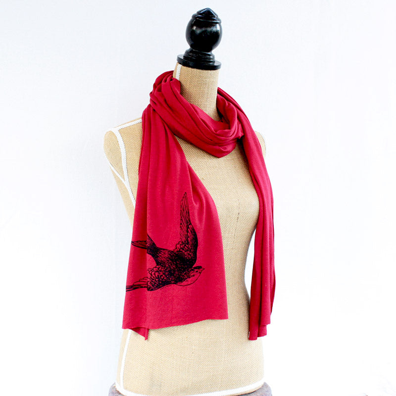 Swallow Bird Bamboo Scarf - The Makers